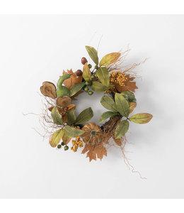 """Sullivans Gift 6.5"""" Foliage Pumpkin Gourd Ring"""