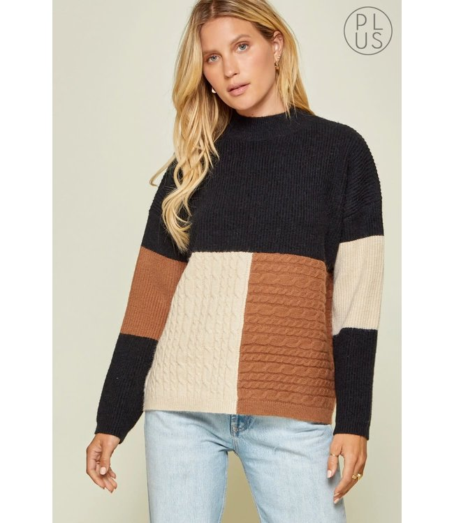 Andree Color Block Sweater