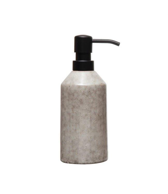Bloomingville Stoneware Soap Dispenser, Cream