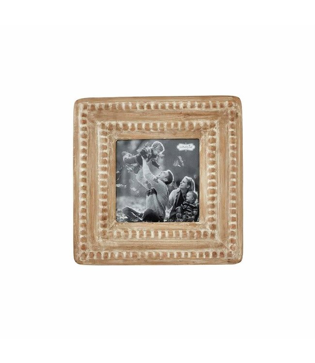 MudPie Small Beaded Wood Frame