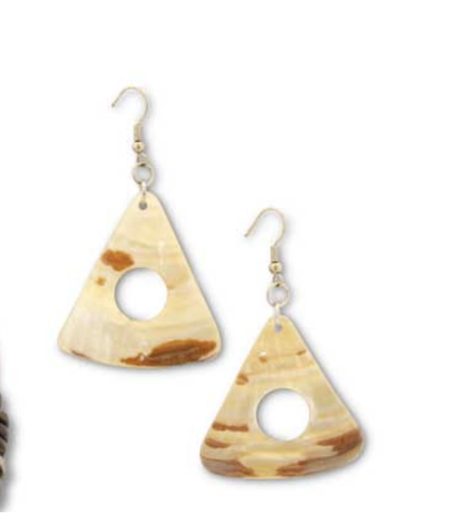 K&K Interiors Triangle Earrings