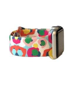 Thomas & Lee Company Multi-Color Cheetah Apple Watch Band