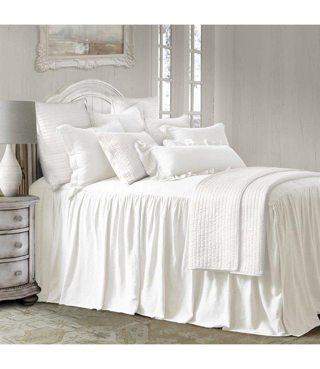 Hiend Accents Luna Bedspread Set White- Super Queen