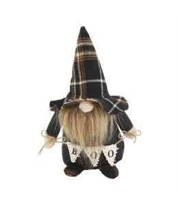 MudPie Small Halloween Gnome with Plaid Hat
