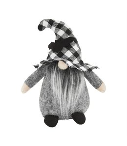 MudPie Small Halloween Gnome with Buffalo Check Hat