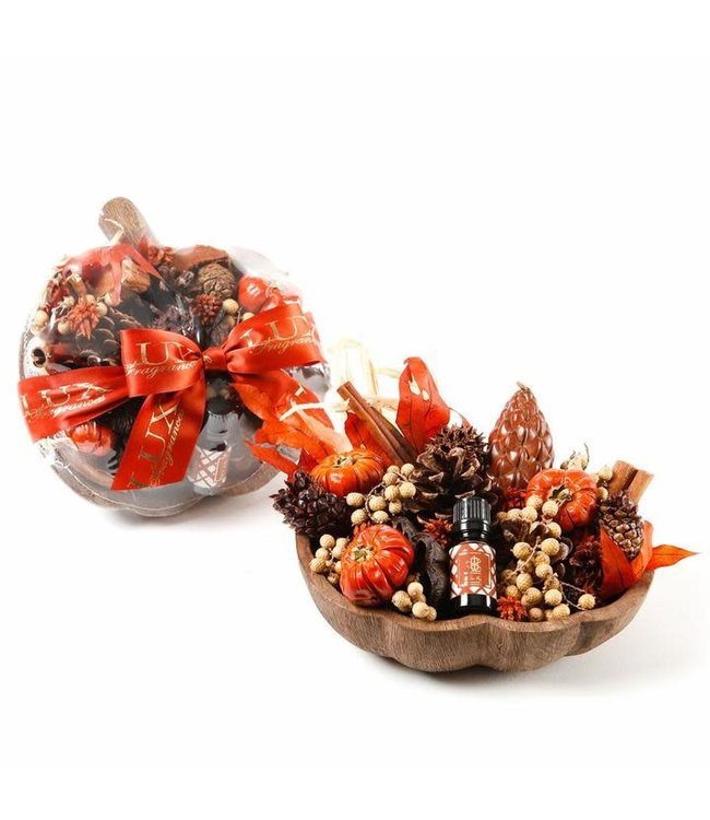 Lux Fragrances Heirloom Pumpkin Fragranced Decorative Botanicals in Pumpkin Bowl