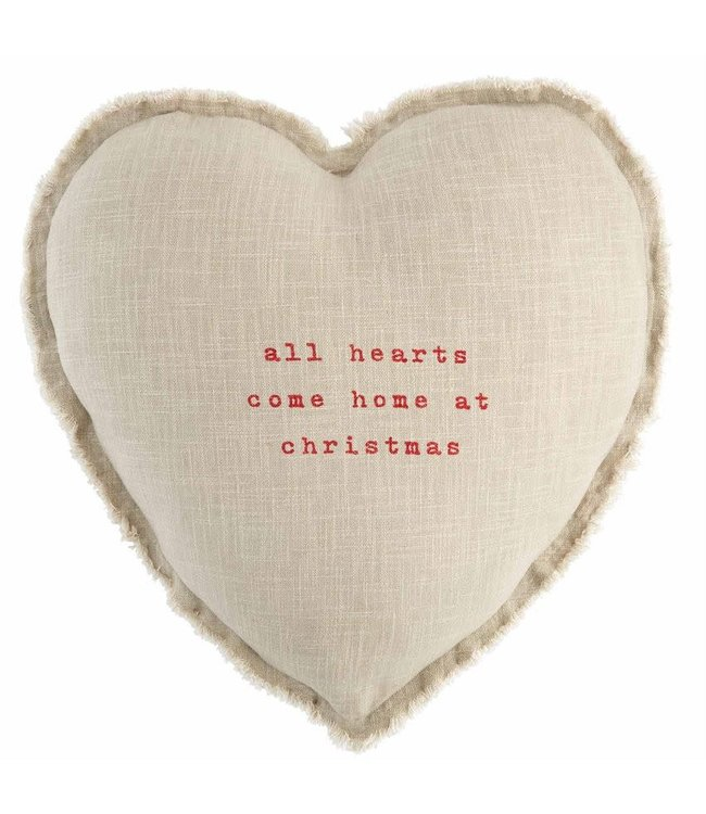 MudPie All Hearts Christmas Pillow