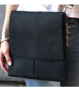 Thomas & Lee Company Black Leather Handbag