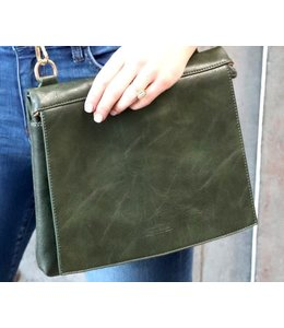 Thomas & Lee Company Olive Green Leather Handbag
