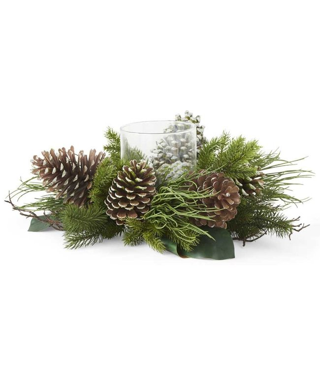K&K Interiors Pine with Pinecones Fir Magnolia and Twig Hurricane