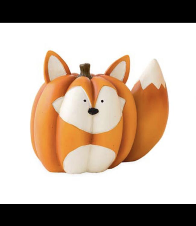Evergreen Baby Fox Pumpkin Statue