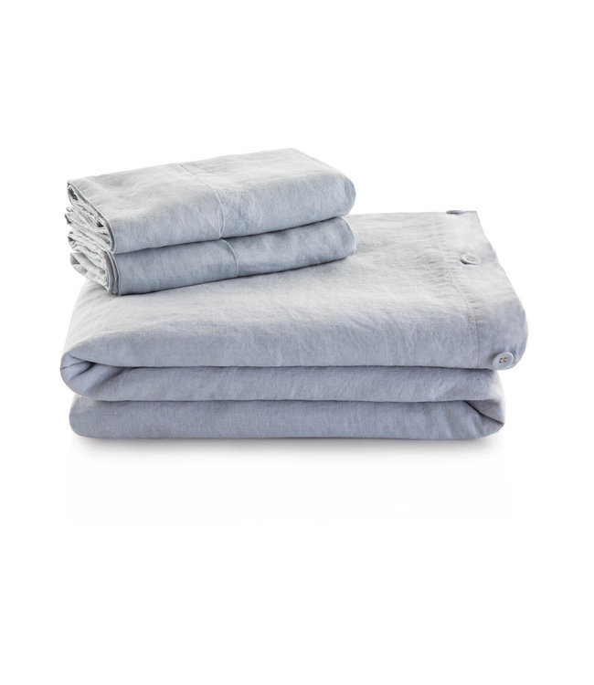 Malouf Woven French Linen Duvet Cover, King, Charcoal