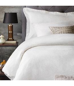 Malouf Woven French Linen Duvet Cover, Queen, White