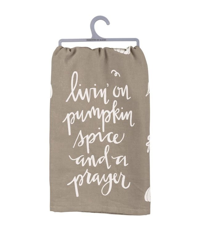Primitives By Kathy Livin' On Pumpkin Spice Dish Towel