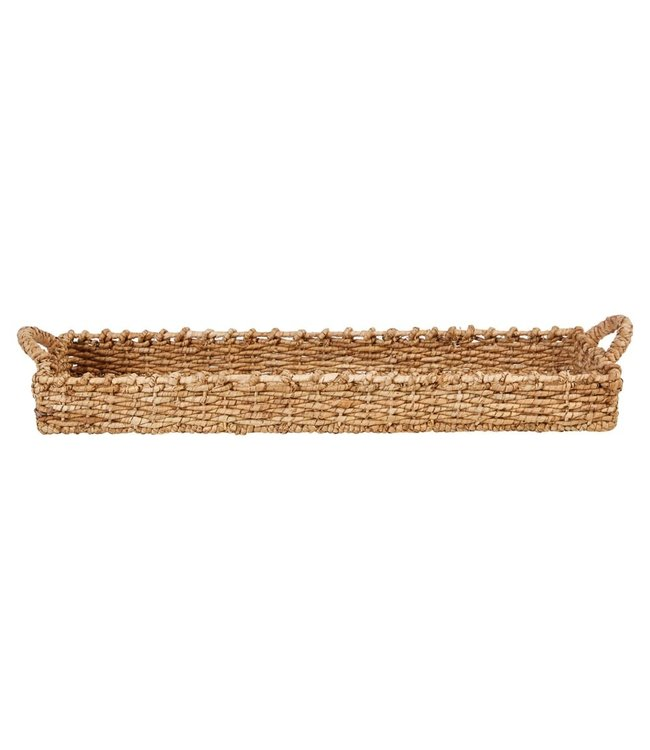 Creative Co-Op Decorative Hand-Woven Seagrass Tray with Handles