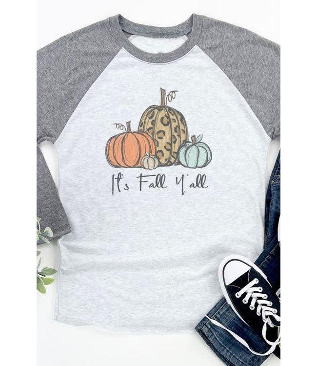 It's Fall Y'all Pumpkin Vintage Tee