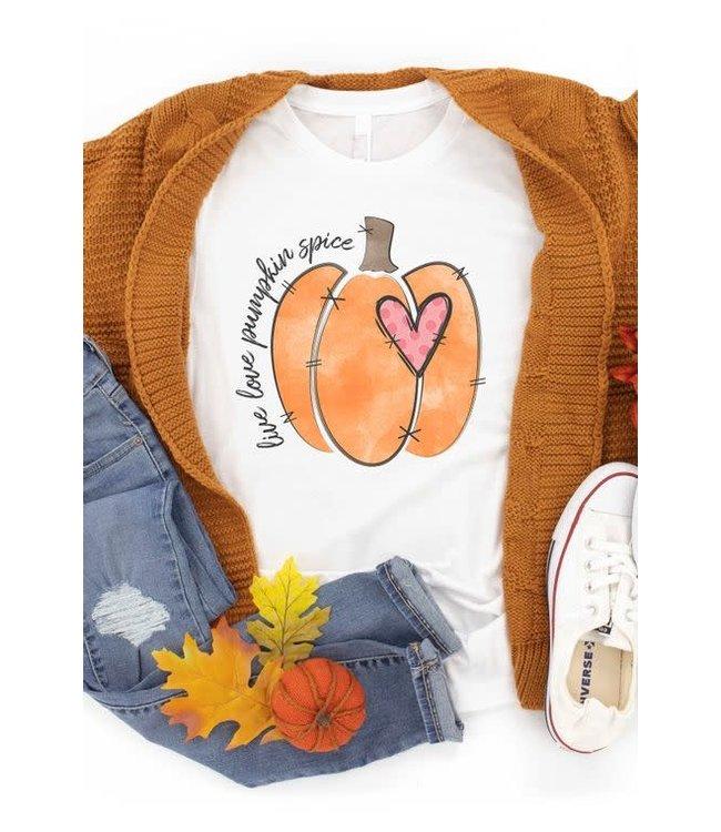 Live Love Pumpkin Spice Graphic Tee