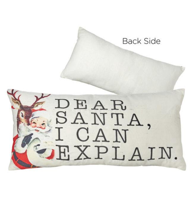 """RAZ Imports 22"""" Dear Santa Pillow"""