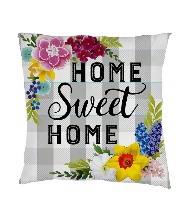 Evergreen Home Sweet Home Plaid Interchangeable Pillow Cover