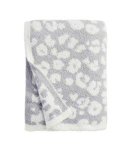 MudPie Gray Leopard Blanket
