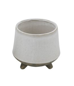 Bloomingville Stoneware Flower Pot with Feet
