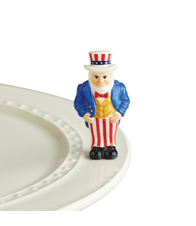Nora Fleming Mini  Uncle Sam