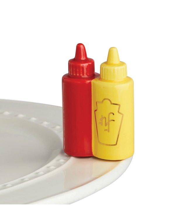 Nora Fleming Mini  Main Squeeze (Ketchup & Mustard)