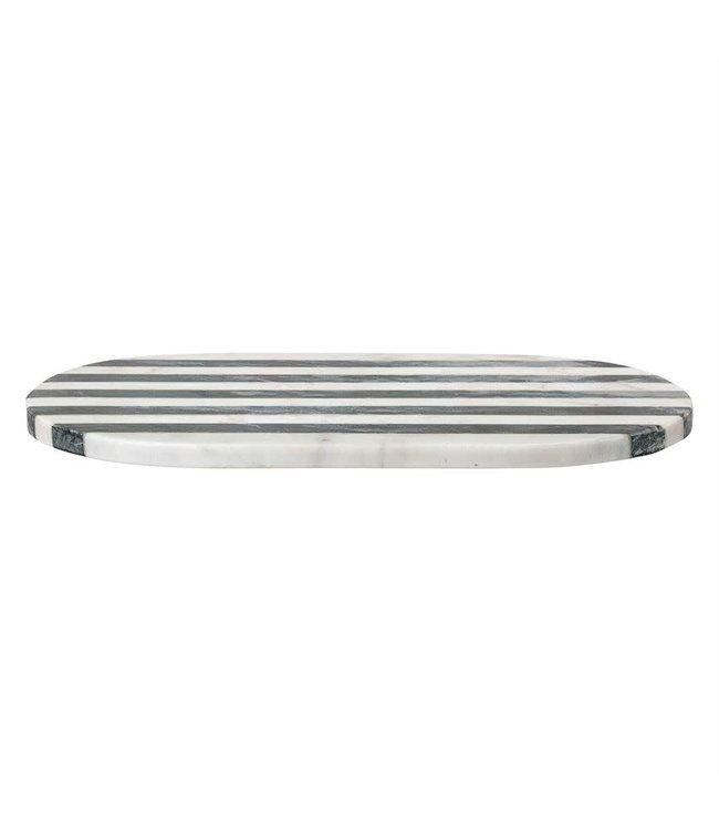 Bloomingville Marble Tray/Cutting Board w/ Black & White Stripe