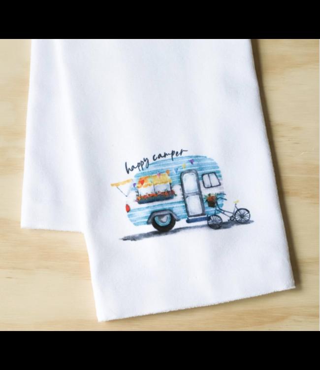Little Birdie Happy Camper Dish Towel