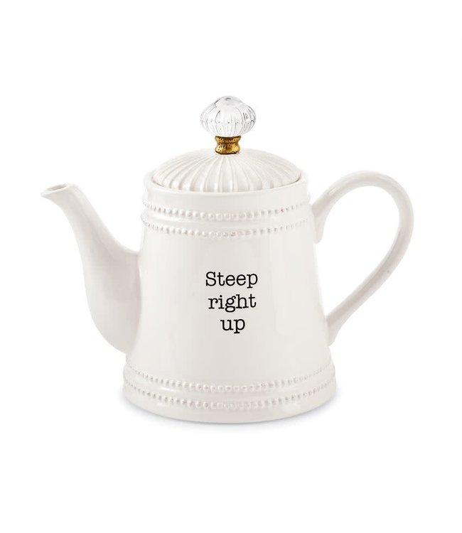MudPie Door Knob Teapot