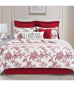 C&F Home Arcadia Quilt Set Full/Queen Red