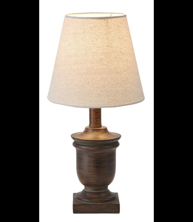 Ganz Espresso Accent Lamp with Circular Base