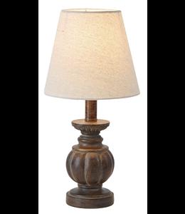 Ganz Espresso Accent Lamp with Stripe Design