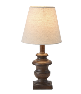 Ganz Espresso Accent Lamp with Tiered Base
