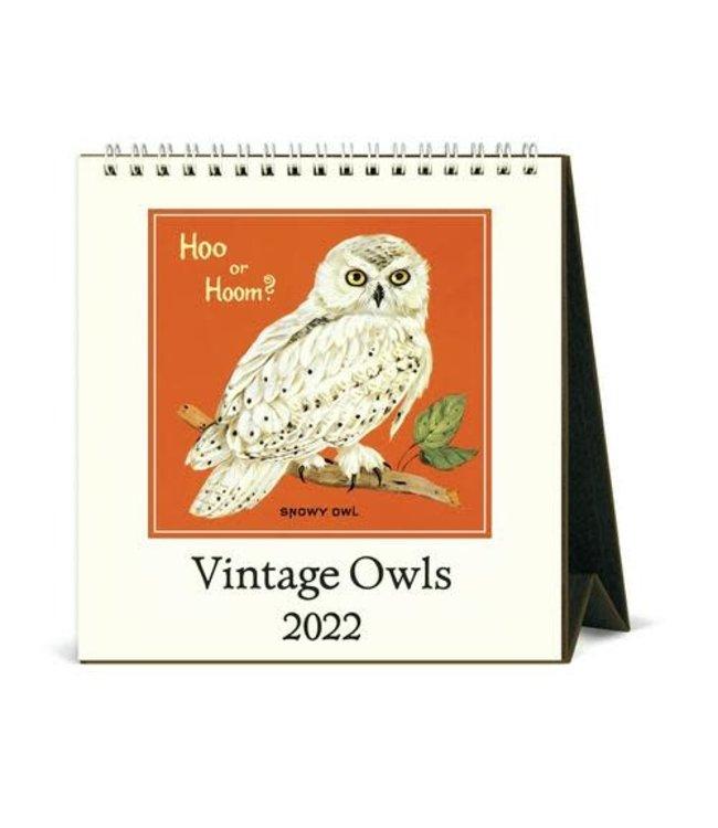 Cavallini & Co. Owls Desk Calendar