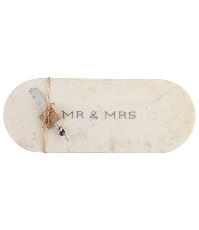 MudPie Mr. & Mrs. Marble Board Set