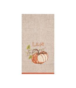 C&F Home Harvest Time Pumpkin Kitchen Towel