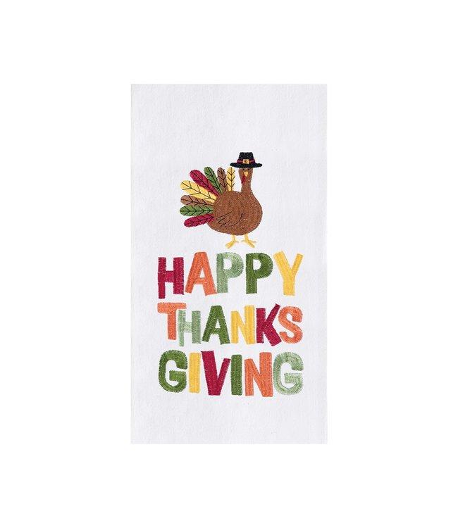 C&F Home Happy Thanksgiving Turkey Towel
