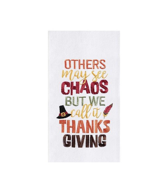 C&F Home Chaos Thanksgiving Towel