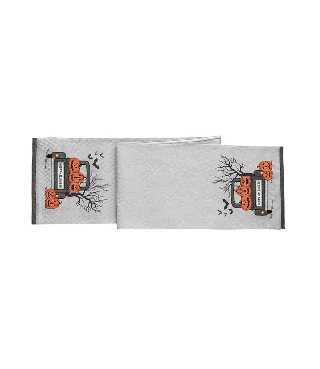 C&F Home Spooky Time Table Runner with LED Lights