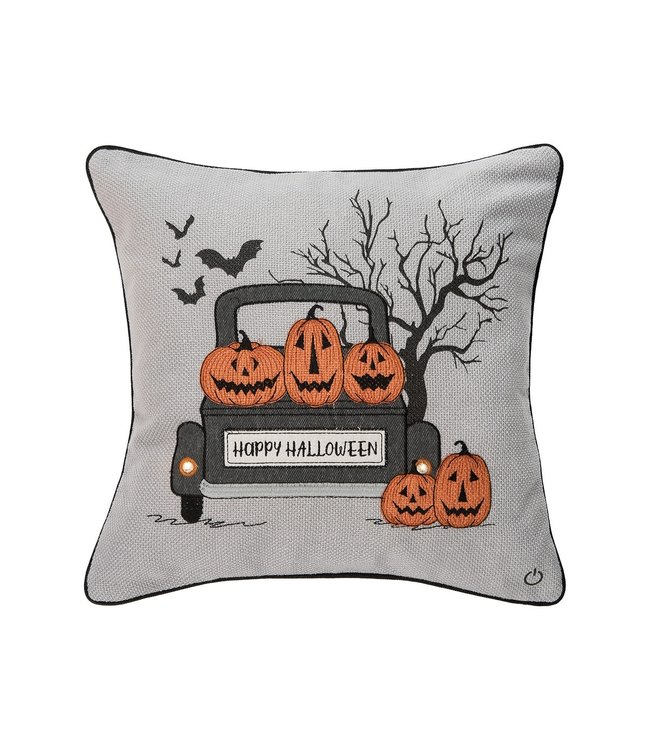 C&F Home Spooky Time Pillow with LED Light