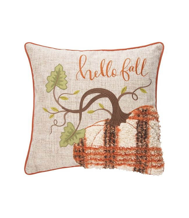 C&F Home Harvest Time Hello Fall Pillow