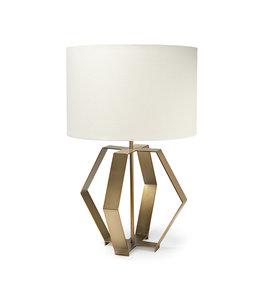 "Mercana Edwards (26""H) Gold Metal Base w/ Cream Fabric Shade Table Lamp"