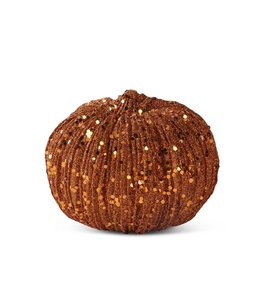 K&K Interiors Orange Glitter Pumpkin