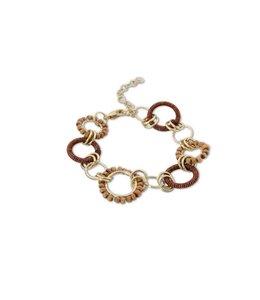 K&K Interiors Brown Thread Hoop Bead Bracelet