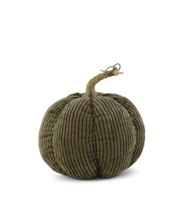 """K&K Interiors Khaki Green Corduroy Pumpkin 7"""""""