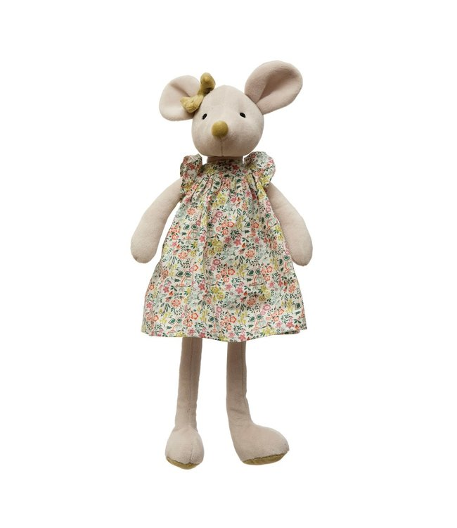 Creative Co-Op Plush Mouse in Dress