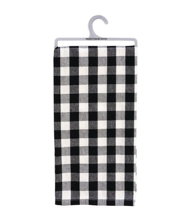 Primitives By Kathy Dish Towel - Sm Black Buffalo Check
