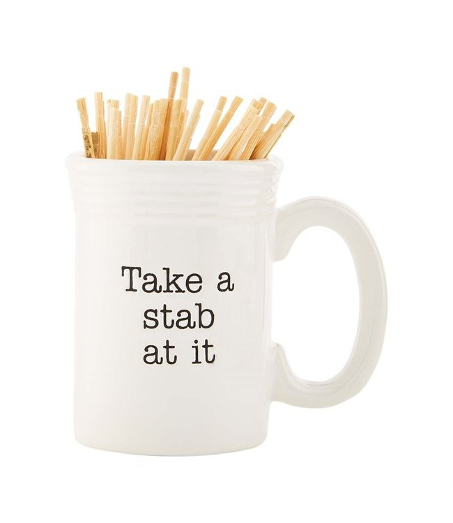 MudPie Circa Toothpick Holder Basket- Take A Stab At It