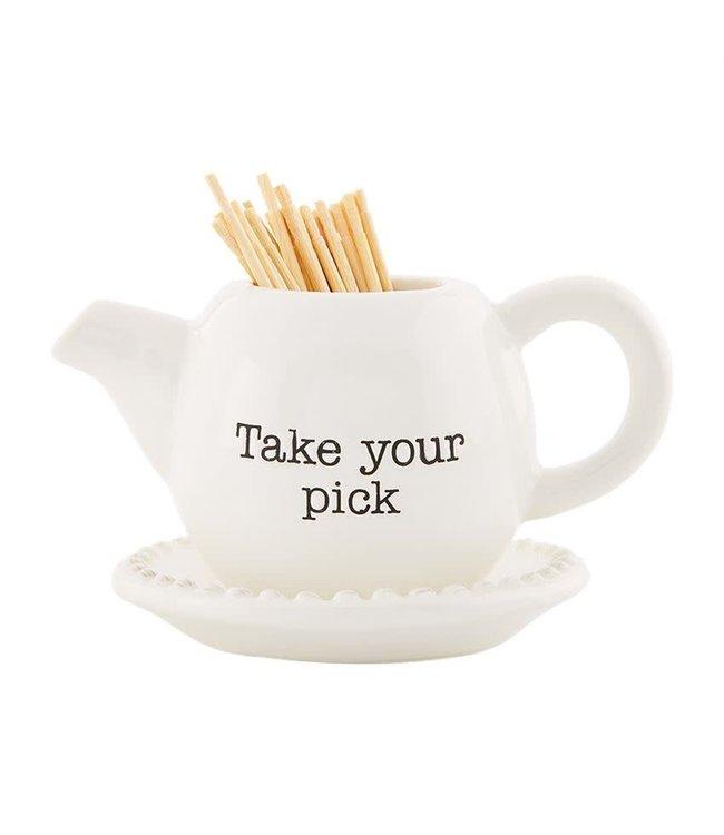 MudPie Circa Toothpick Holder Basket- Take Your Pick